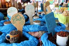 香料在主要市场上在Pointe-a-Pitre,瓜德罗普 图库摄影