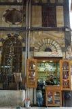 香料在大马士革购物,叙利亚义卖市场  库存图片
