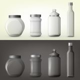 香料或调味料的瓶子或玻璃瓶 向量例证