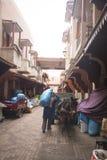 香料souk在马拉喀什,摩洛哥 库存照片