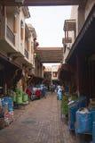香料souk在马拉喀什,摩洛哥 免版税库存照片