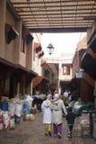 香料souk在马拉喀什,摩洛哥 免版税库存图片
