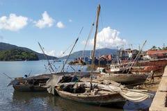 香是港口,马达加斯加 免版税库存图片