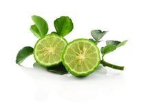 香柠檬被隔绝的白色背景 库存图片