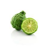 香柠檬被隔绝的白色背景 免版税库存图片