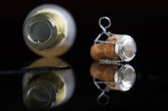香槟下落为时 免版税图库摄影