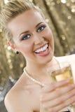 香槟乐趣 免版税库存图片