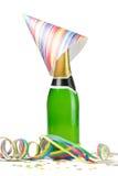 香槟五彩纸屑 库存图片