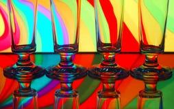 香槟四块玻璃 图库摄影