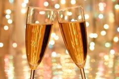 香槟圣诞节 库存图片