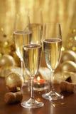 香槟圣诞节 免版税库存图片