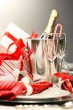 香槟圣诞节 库存照片