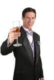 香槟多士垂直 免版税库存图片