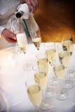 香槟多士婚礼 免版税库存照片