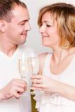 香槟夫妇 免版税库存图片