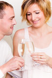 香槟夫妇 免版税图库摄影
