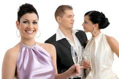 香槟妇女 免版税库存图片