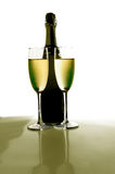 香槟孪生 库存照片