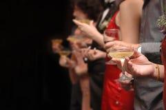 香槟敬酒 库存照片
