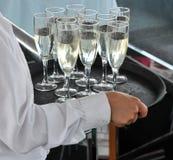 香槟服务 库存图片