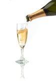 香槟槽倾吐 免版税库存照片