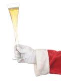 香槟槽藏品圣诞老人 免版税库存照片