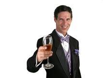 香槟水平的多士 免版税库存照片