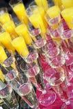 香槟汁桔子 免版税库存照片