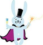 香槟玻璃兔子 库存例证