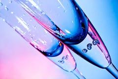 香槟的玻璃 免版税库存照片