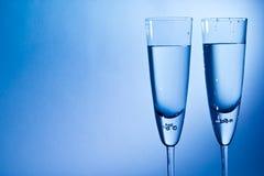 香槟的玻璃 库存图片