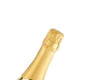 香槟的瓶脖子 免版税库存图片