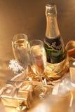 香槟礼品 免版税图库摄影