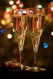 香槟黄柏玻璃hristmas结构树二 库存图片