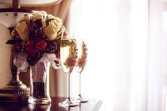 香槟玻璃二 库存照片
