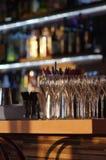 香槟玻璃行 免版税库存照片