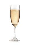 香槟玻璃隔离白色 免版税库存图片