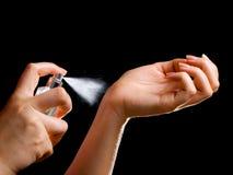 香水测试人员 库存图片