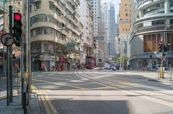 香港一条空的街道  图库摄影