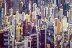香港中国都市风景 免版税库存照片