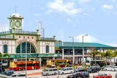 香港中央码头修造 免版税图库摄影