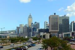 香港中央财政区 库存图片