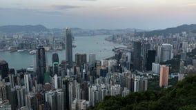 香港从峰顶的市视图 股票视频