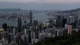 香港从峰顶的市视图 影视素材