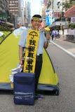 香港伞革命在旺角 免版税图库摄影