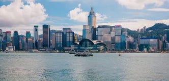 香港全景地平线 免版税图库摄影