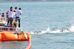 香港十字架港口种族2013年 库存图片