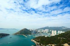 香港台风风雨棚游艇俱乐部 免版税库存图片