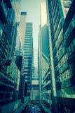 香港商业中心和现代大厦在天时间 库存图片
