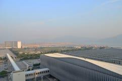香港国际机场机场主楼 免版税库存图片